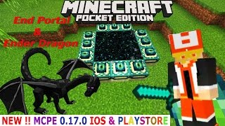 MINECRAFT PE 0.17.0 UPDATE :  CARA BUAT END PORTAL & BERTEMU Ender Dragon