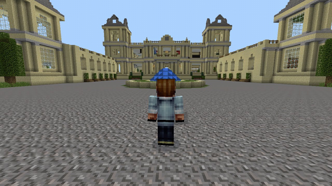 Minecraft pe - The Wayne Manor and Batcave - YouTube