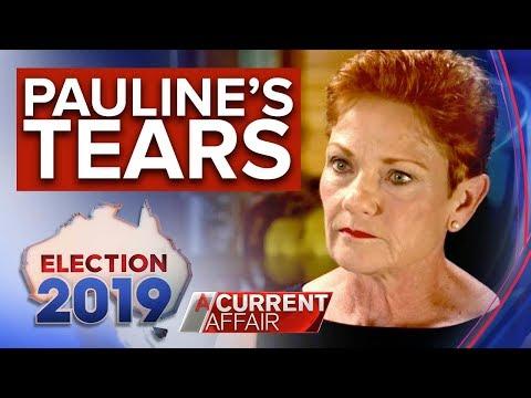 Pauline Hanson's tears – Tracy Grimshaw EXCLUSIVE   Nine News Australia