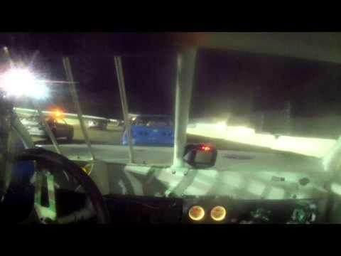 12 year old jordan fowler North Florida speedway 1-30-15  heat crash in car cam