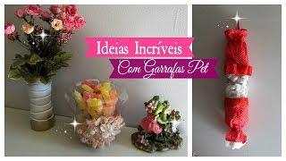 DIY: IDEIAS INCRÍVEIS COM GARRAFAS PET por Carla Oliveira