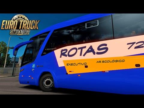 Euro Truck Simulator 2 Mod Bus   Rotas - São Paulo/Goiânia - Logitech G27