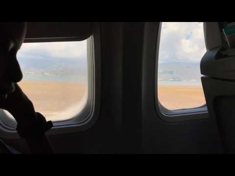 Landing at Norman Manley International airport in Kingston Jamaica - February 2017