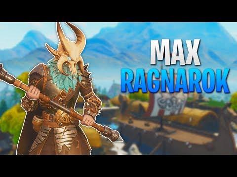 MAX RAGNAROK! FORTNITE SEASON 5 LEVEL 100! GRINDING TO LEVEL 100 LIVE!