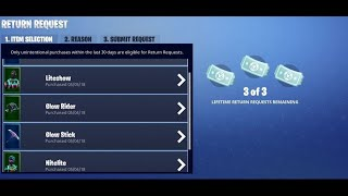Fortnite Awesome New Refund Feature Refund Items FOR VBUCKS
