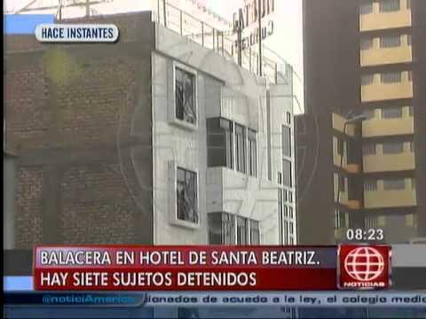 América Noticias: EXCLUSIVO: Video muestra la ferocidad de la balacera en el hotel de Santa Beatriz