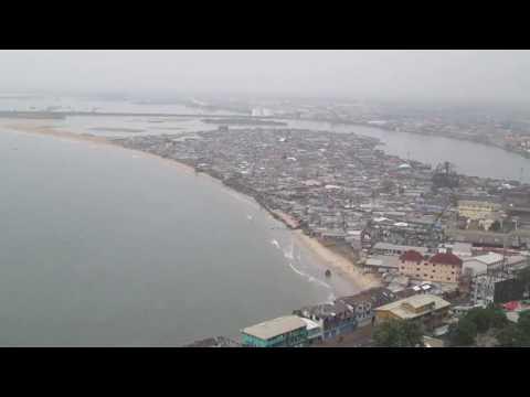 Aerial View of Monrovia Liberia West Africa
