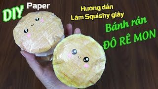 Hướng dẫn làm Squishy giấy BÁNH RÁN ĐÔ RÊ MON | DIY 3D PAPER DONUT SQUISHY | Liam Channel