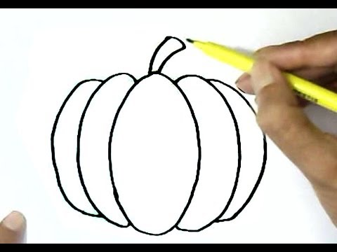 How to draw a pumpkin ...