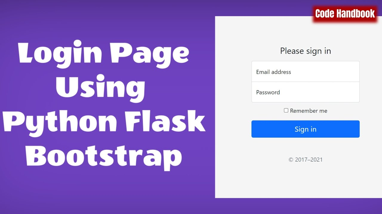 Learn Python : Login Page Using Python Flask & Bootstrap   Render Template   Static Files