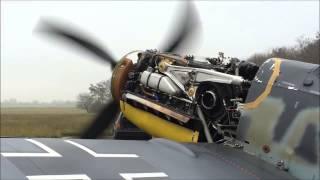 Bf 109 G-6 Schwarze 8  Engine Test