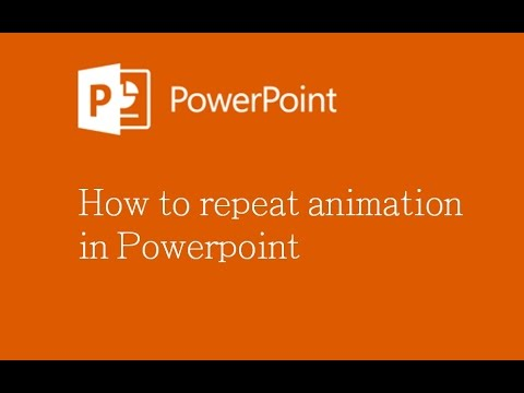 How To Repeat Animation In Powerpoint Youtube