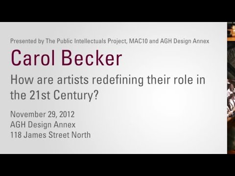 Artists as Public Intellectuals: Carol Becker Guest Speaker