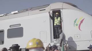 Arrival of the Train Express Regional in Senegal