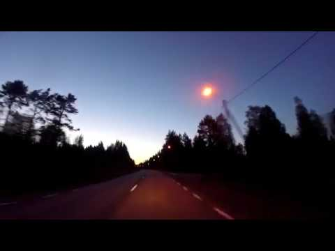 CAR ACCIDENT Driving To Finland CANT FIND GAS (Night Driving) Travel Vlog