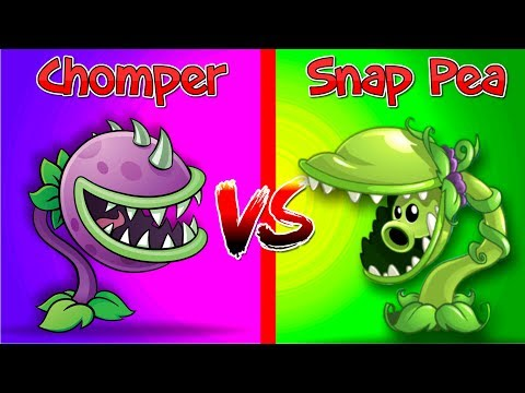 Snap Pea vs Chomper Plants vs Zombies 2 Premium vs Premium Video PVZ 2 Carnívora