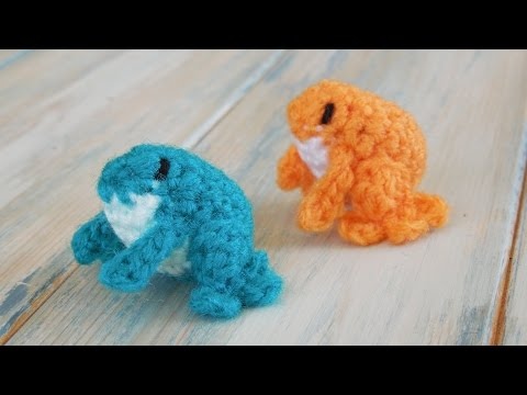 (crochet) How To Crochet a Mini Frog - Yarn Scrap Friday