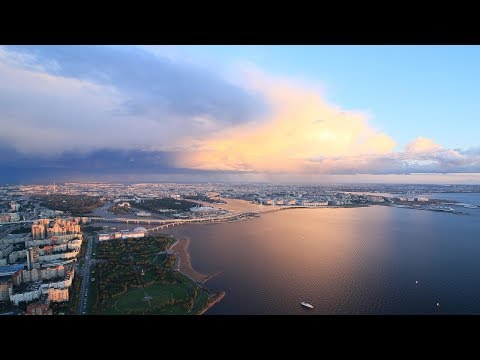 Над Санкт-Петербургом / Above The Saint-Petersburg (Lakhta 360)