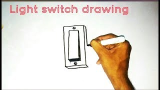How To Draw A Light Switch Youtube