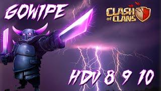 technique gowipe pour hdv 8 9 10   clash of clans franais