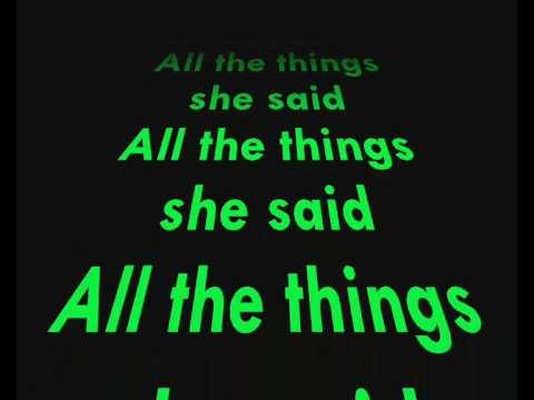 Lyrics to 'All the Things She Said' by t.A.T.u - YouTube