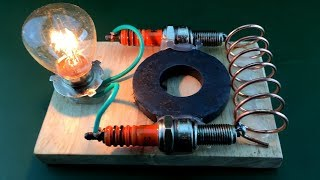 2019 Amazing Free Energy Electric Using Spark Plug With Magnet 100%