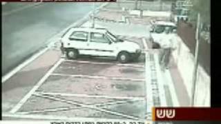 Unbelievable - Grad rocket hits near an Israeli man in Ashkelon, Israel thumbnail