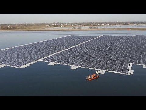 Central solar flutuante produz eletricidade para estação de tratamento de água - science