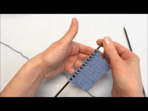 Rechte Maschen Stricken - Knit Stitch - Stricken Lernen - Learn How To Knit