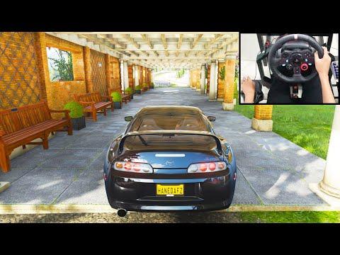 Toyota Supra - Forza Horizon 4 | Logitech G29 Gameplay