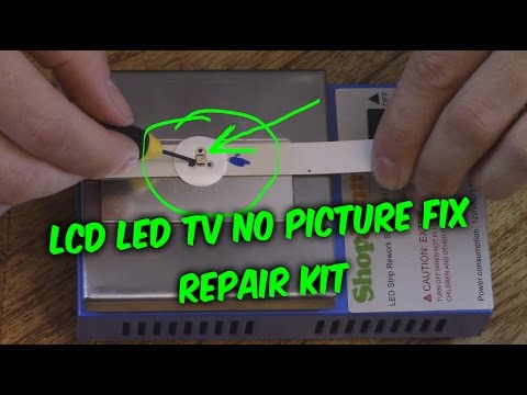 EASY LED LCD TV FIX - no picture black screen backlight ...