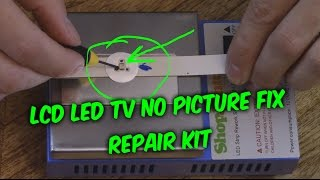 EASY LED LCD TV FIX - no picture black screen backlight repair kit