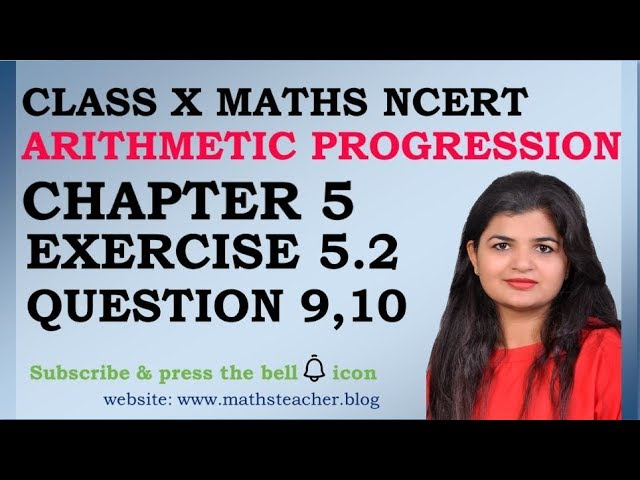 Chapter 5 Arithmetic Progression Ex 5.2 Q9 Q10 class 10 Maths
