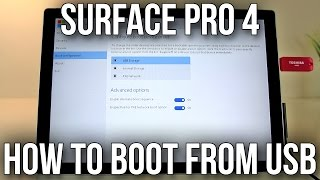 Microsoft Surface Pro 4 - How To Boot From USB Media