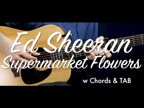 Ed Sheeran - Supermarket Flowers guitar Lesson/Tutorial w Chords & TAB guitar cover/How to play