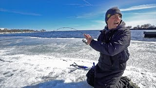 Super SKETCHY Ice Fishing!