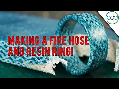 Making a Ring out of Real Fire Hose Cast in Resin