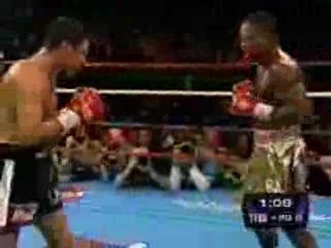 Óscar de la Hoya vs. Ike Quartey (Round 6)