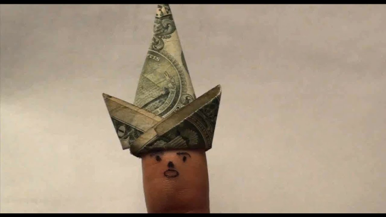 Easy origami finger puppet hat 1 one dollar bill cap for finger easy origami finger puppet hat 1 one dollar bill cap for finger puppets easy tutorial how to youtube jeuxipadfo Image collections