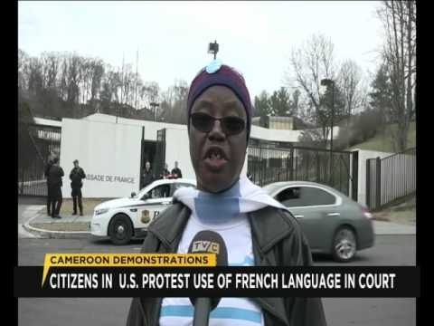Cameroonians in U.S. protest use of French language in Courts