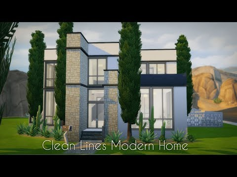 Clean Lines Modern // Sims 4 Speed Build