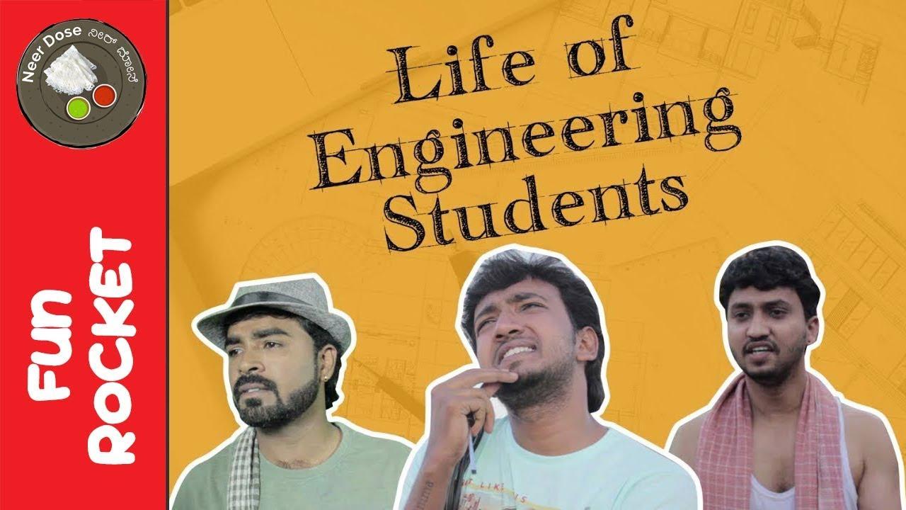 Download Life of engineering students Funny Video   Fun Rocket Episode 4   Kannada Comedy   Neer Dosa