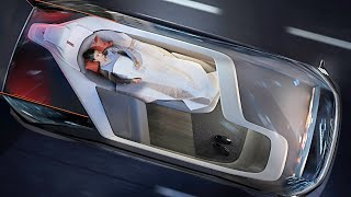 Volvo 360c – Mini Bedroom on the Road / Self Driving Luxury Car | Volvo Self Driving Car