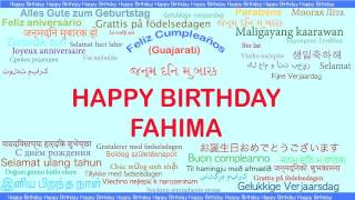 Fahima   Languages Idiomas - Happy Birthday