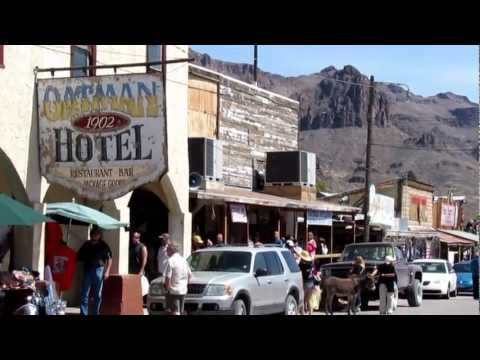 OATMAN ARIZONA ~ OLD MINING GHOST TOWN [HD]