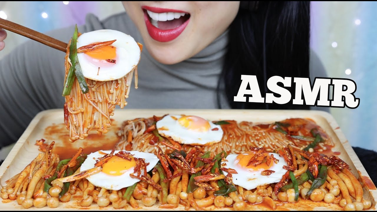 Asmr Spicy Enoki Mushrooms Snow Mushrooms Fried Eggs Eating Sounds No Talking Sas Asmr Youtube With more than 2.2 billion total video views, sas became a youtube phenomenon specializing in eating, whispering and mukbang asmr content. asmr spicy enoki mushrooms snow mushrooms fried eggs eating sounds no talking sas asmr