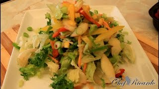 Fresh Apple Green Salad Recipes FromChef Ricardo Cooking