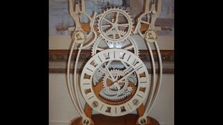 Duplicity Wooden Geared Clock