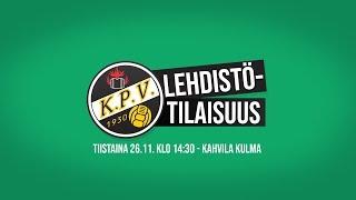 KPV:n Lehdistötilaisuus | ti 26.11.2019