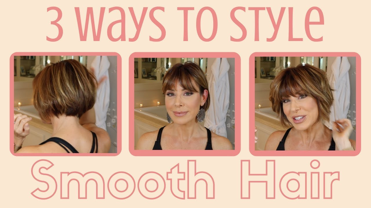 3 Ways To Style Smooth Hair Dominique Sachse